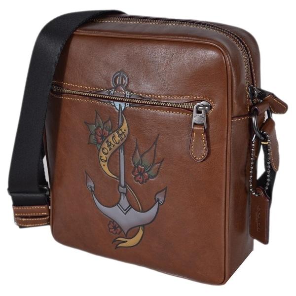 9ab27d4398fe inexpensive coach menx27s metropolitan flight bag with tattoo tooling messenger  bag 03687 beeb2