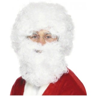 White Santa Beard and Wig Set Adult Costume Accessory