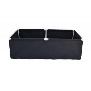Geopot PL72X36X20 72 x 36 x 14 in. Raised Planter Bed, Black