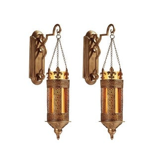 Design Toscano Kinnaird Castle Hanging Pendant Wall Sconce:Set of Two