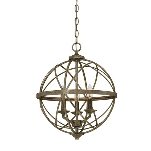 """Millennium Lighting 2283 Lakewood 3 Light 16"""" Wide Foyer Pendant with Cage Frame"""