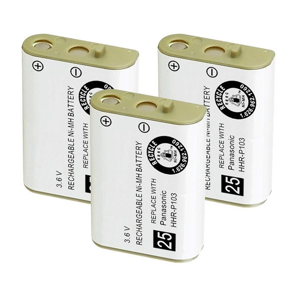Replacement Battery For VTech i5808 / i5850 Cordless Phones - 102 (800mAh, 3.6V, NiMH) - 3 Pack