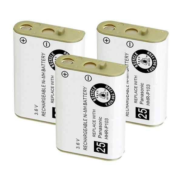 Replacement For VTech 102 Cordless Phone Battery (800mAh, 3.6V, NiMH) - 3 Pack