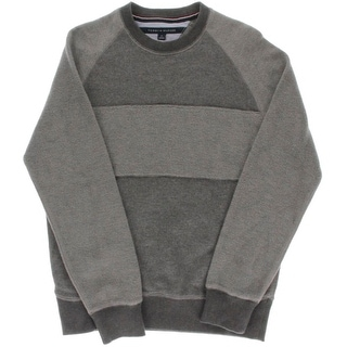 Tommy Hilfiger Mens Crewneck Colorblock Pullover Sweater