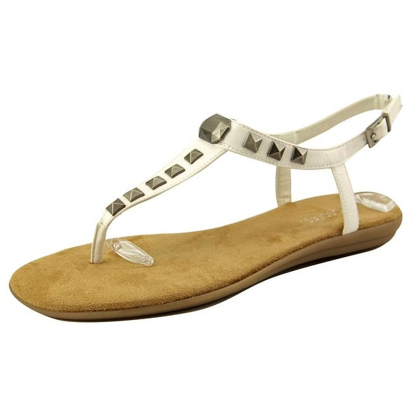 Aerosoles Chlose Together Women Open Toe Leather White Thong Sandal