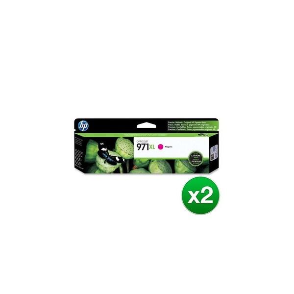 HP 971XL High Yield Magenta Original Ink Cartridge (CN627AM)(2-Pack)