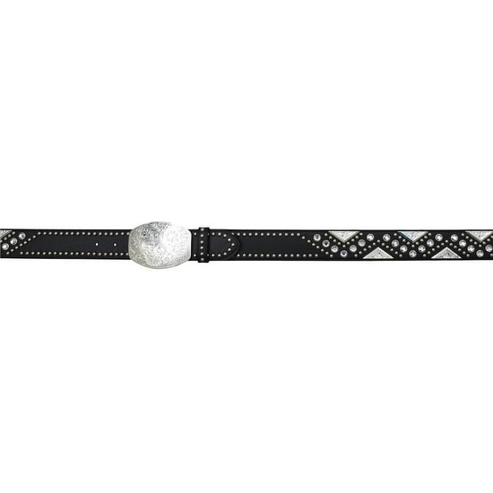 Angel Ranch Western Belt Women Pebble Swirl Concho Fashion Black