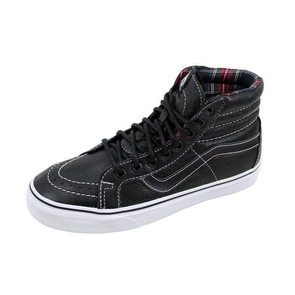 Shop Vans Men s Sk8 Hi Reissue Black Plaid Leather VN0003CAI1I Size ... a9cade52f