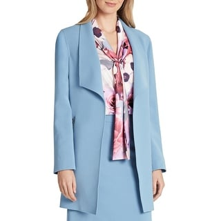 Link to Tahari ASL Womens Topper Jacket Suit Separate Midi - Forever Blue Similar Items in Suits & Suit Separates