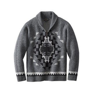Pendleton Western Sweater Mens Two Grey Hills Full Zip Charcoal