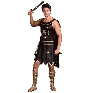 Dreamgirl Babe-A-Lonian Warrior King Adult Costume - Black - 2X-Large