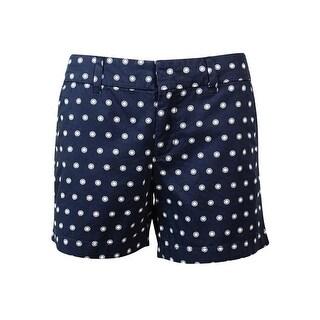 Tommy Hilfiger Women's Flat Front Polka Dot Print Shorts - 12