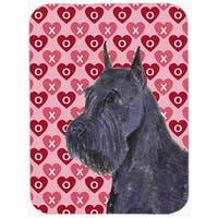 Schnauzer Hearts Love & Valentines Day Portrait Glass Cutting