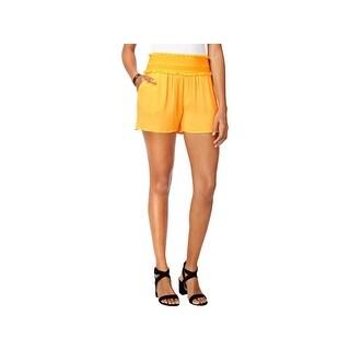 BCX Womens Juniors Harem Shorts Smocked Ribbed - XL