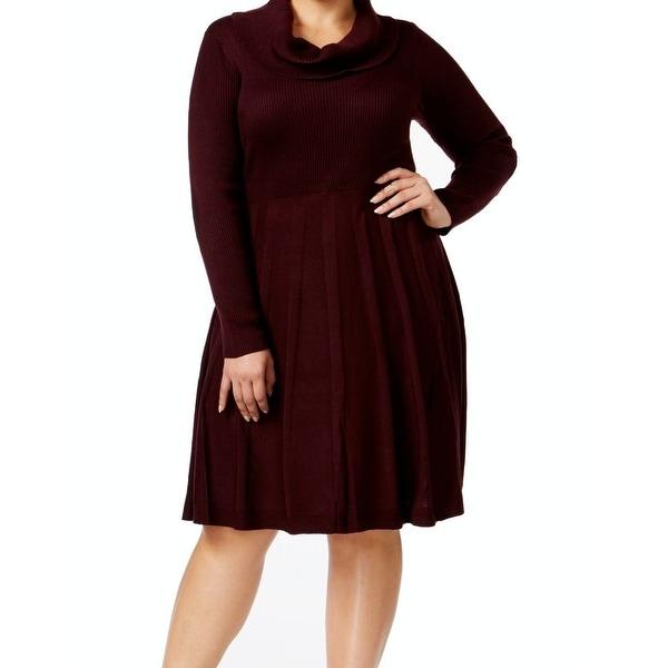 7ef917da7cb Shop Calvin Klein NEW Purple Womens Size 1X Plus Cowl-Neck Sweater ...