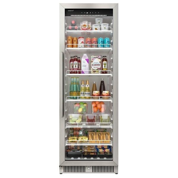 "EdgeStar VBM131 24"" Wide 13.7 Cu. Ft. Commercial Beverage Merchandiser - Stainless Steel. Opens flyout."