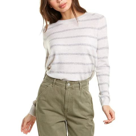 Vince Striped Wool & Cashmere-Blend Sweater