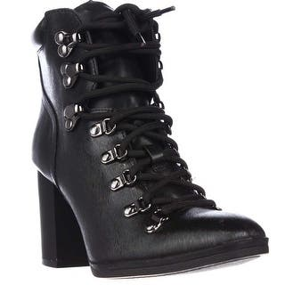 Calvin Klein Evee Lace Up Casual Heeled Boots, Black|https://ak1.ostkcdn.com/images/products/is/images/direct/a2b0be50d5bce70595b27258379ce5a93ee53fce/Calvin-Klein-Evee-Lace-Up-Casual-Heeled-Boots%2C-Black.jpg?impolicy=medium