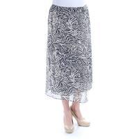 RACHEL ROY Womens Black Animal Print Wide Leg Pants  Size: 14