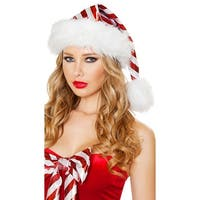 Red And White Striped Christmas Hat - as shown - One Size Fits most