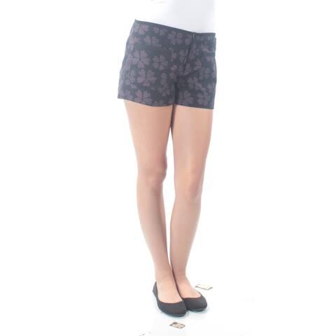 RACHEL ROY Womens Black Floral Short Size: Size 0