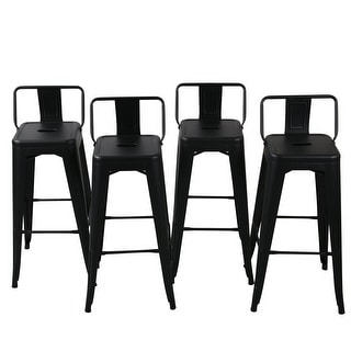Astonishing Belleze 30 Inch Barstools Black Bar Stools Low Back Set Of 4 Overstock Com Shopping The Best Deals On Bar Stools Pabps2019 Chair Design Images Pabps2019Com