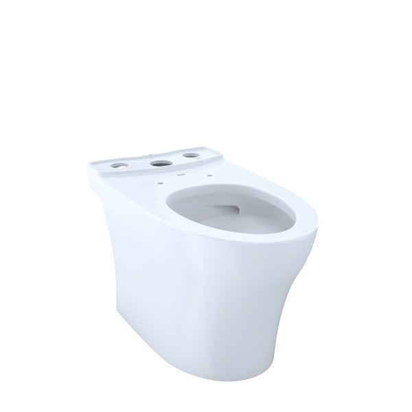 Toto CT446CUFG Aquia Elongated Chair Height Toilet Bowl Only with CeFiONtect - Cotton White