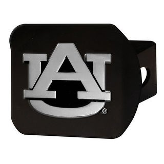 "Auburn University Hitch Cover - Black - 3.4""x4"""