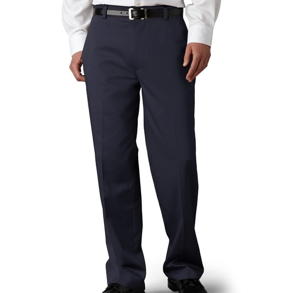 Dockers Mens Khaki Pants Navy Blue Size 40x32 Classic-Fit Flat Front. Opens flyout.