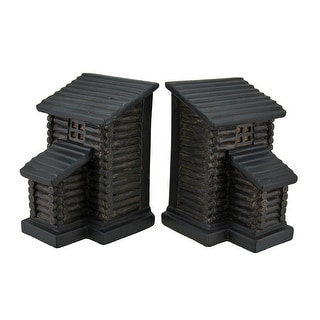 Link to Rustic Log Cabin Lodge Decorative Shelf Bookend Set Similar Items in Desk Accessories