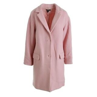 DKNY Womens Wool Single Vent Coat - L
