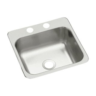 "Sterling B153-2 15"" Single Basin Drop In Stainless Steel Bar Sink with SilentShield"