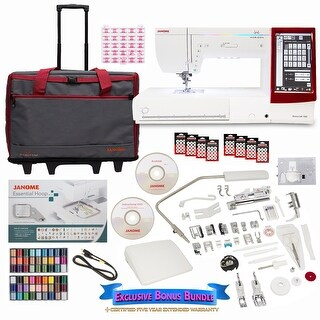 Janome Memory Craft 14000 Sewing and Embroidery Machine with Exclusive Bonus Bundle