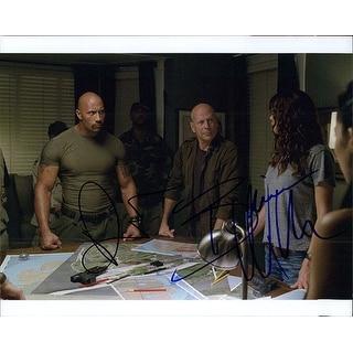 Signed GI Joe Retaliation Dwayne Johnson  Bruce Willis 8x10 Photo by Dwayne Johnson  Bruce Willis a