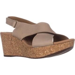 Clarks Annadel Eirwyn Comfort Wedge Sandals, Sand