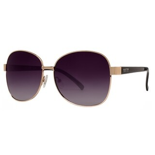 Kenneth Cole Reaction KC1284 5932B Women's Gold Grey Gradient Square Sunglasses - 59mm-14mm-130mm