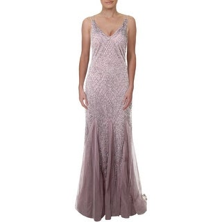 Link to Xscape Womens Evening Dress Beaded Full-Length - Pink Similar Items in Dresses