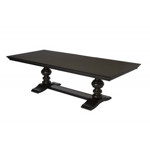 Best Quality Furniture Cappuccino Dining Table with 20-inch Extension Leaf