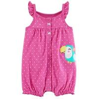 Carter's Baby Girls' Toucan Snap-Up Cotton Romper, 6 Months