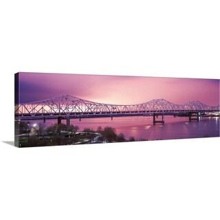 """Bridge across a river, John F. Kennedy Memorial Bridge, Louisville, Kentucky"" Canvas Wall Art"