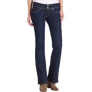 Levi's Womens Juniors 524 Bootcut Jeans Skinny Fit Ultra-Low Rise