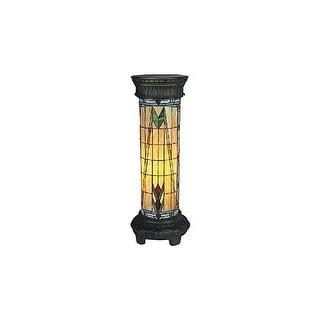 Landmark Lighting 660/30-CR Tiffany Single Light Up Lighting Floor Lamp from the Sedona Collection - tiffany bronze