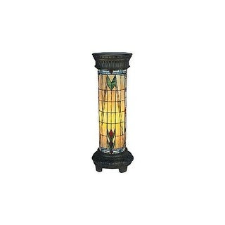 Landmark Lighting 660/30-SQ Tiffany Single Light Up Lighting Floor Lamp from the Sedona Collection - tiffany bronze
