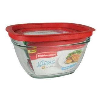 Rubbermaid 2856007 Food Storage Container With Easy Find Lid, 11.5 cup, Square