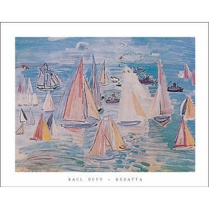 ''Regatta'' by Raoul Dufy Huntington Graphics Art Print (22 x 28 in.)