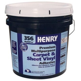 Henry 12075 Premium Multi Purpose Carpet & Sheet Vinyl Adhesive, 4 Gallon