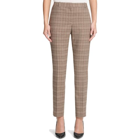 Tommy Hilfiger Womens Pants Brown Size 12 Dress Slim Ankle Stretch