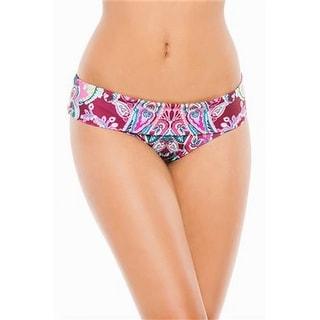 Becca By Rebecca Virtue NEW Purple Women's Small S Bikini Bottom Swimwear