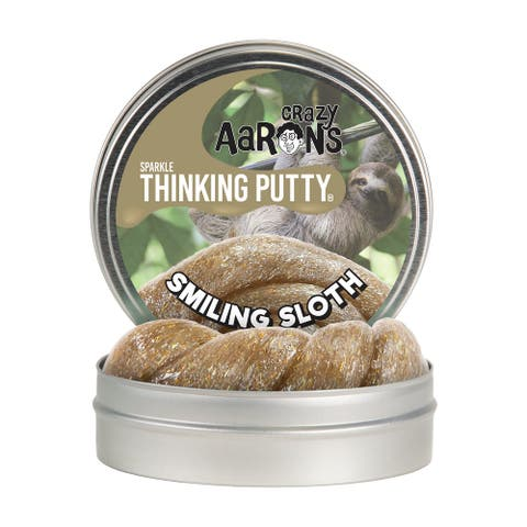 Crazy Aaron's Thinking Putty Full Size 4in Tin Smiling Sloth