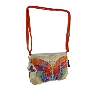 Laurel Burch Flutterbye Small Butterfly Cross Body Bag - Orange